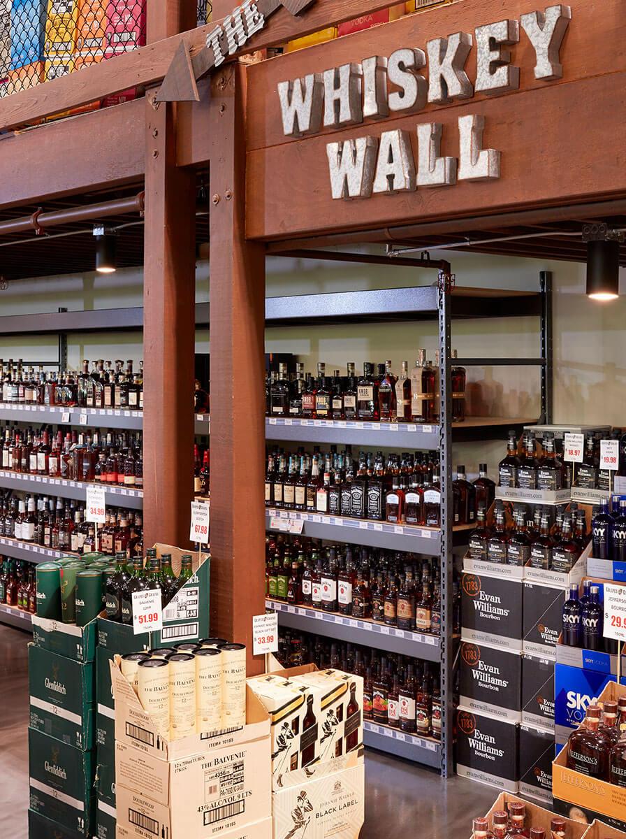 Grapes and Grains - Whiskey Wall